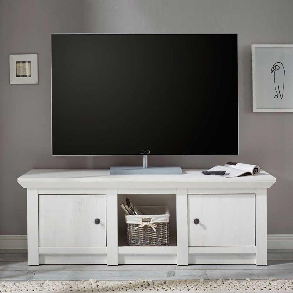 TV Schrank in Landhaus Weiß 2 Türen | Wohnzimmer > TV-HiFi-Möbel > TV-Schränke | Brandolf