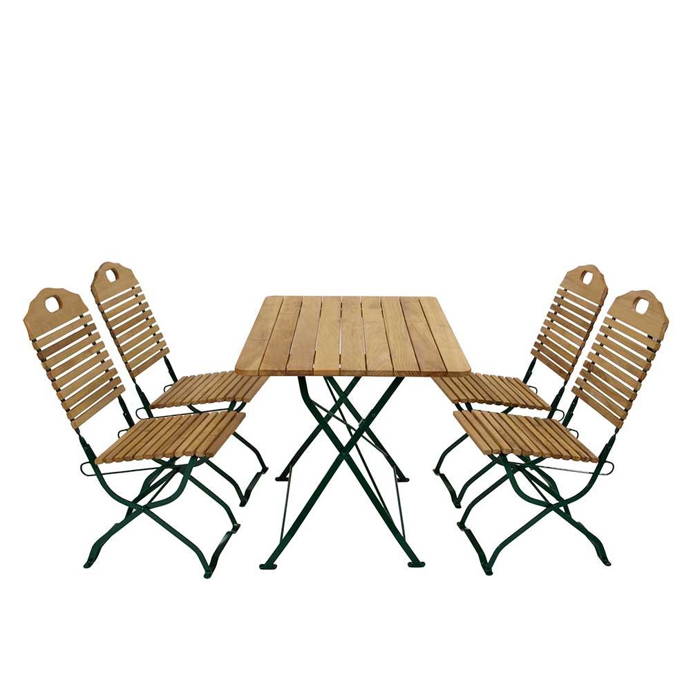 Esstisch mit Stühlen für Garten klappbar (5-teilig)