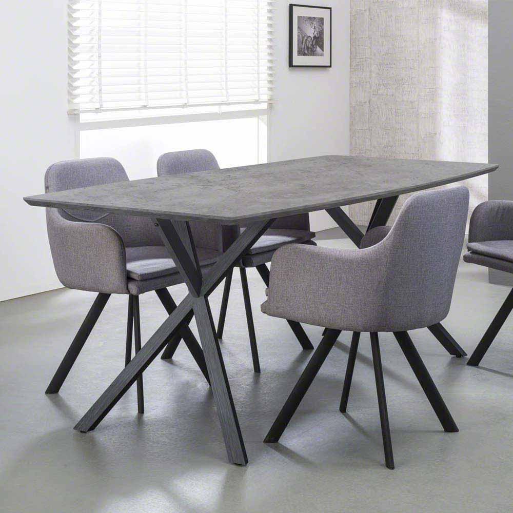 Esszimmertisch mit Beton beschichtet Stahl