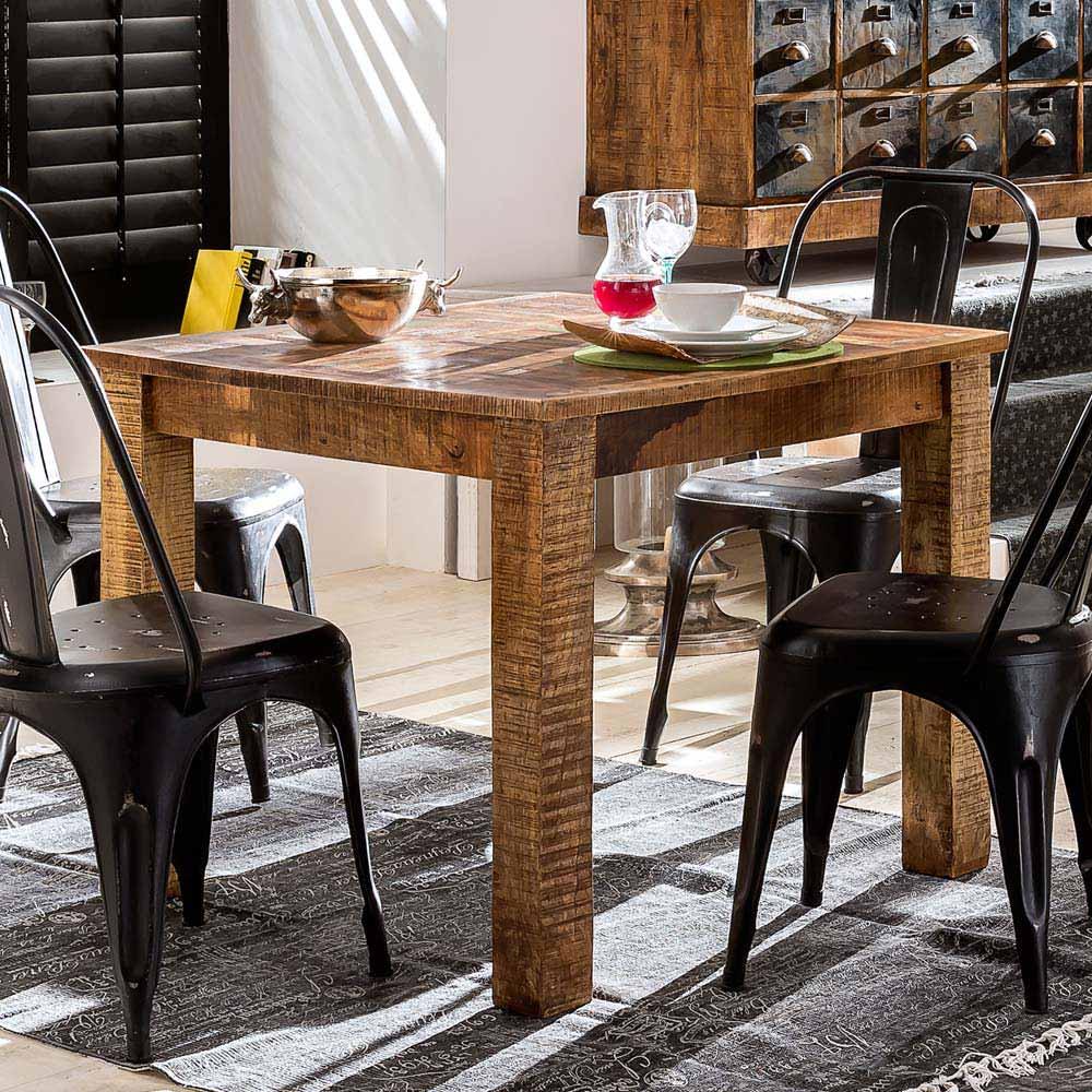 Esstisch aus Mangobaum Recyclingholz Loft Design