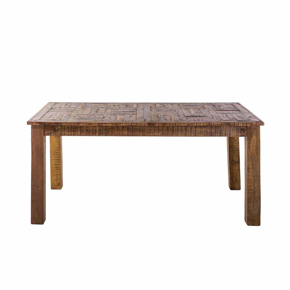 Esszimmertisch aus Mangobaum Recyclingholz 160 cm breit