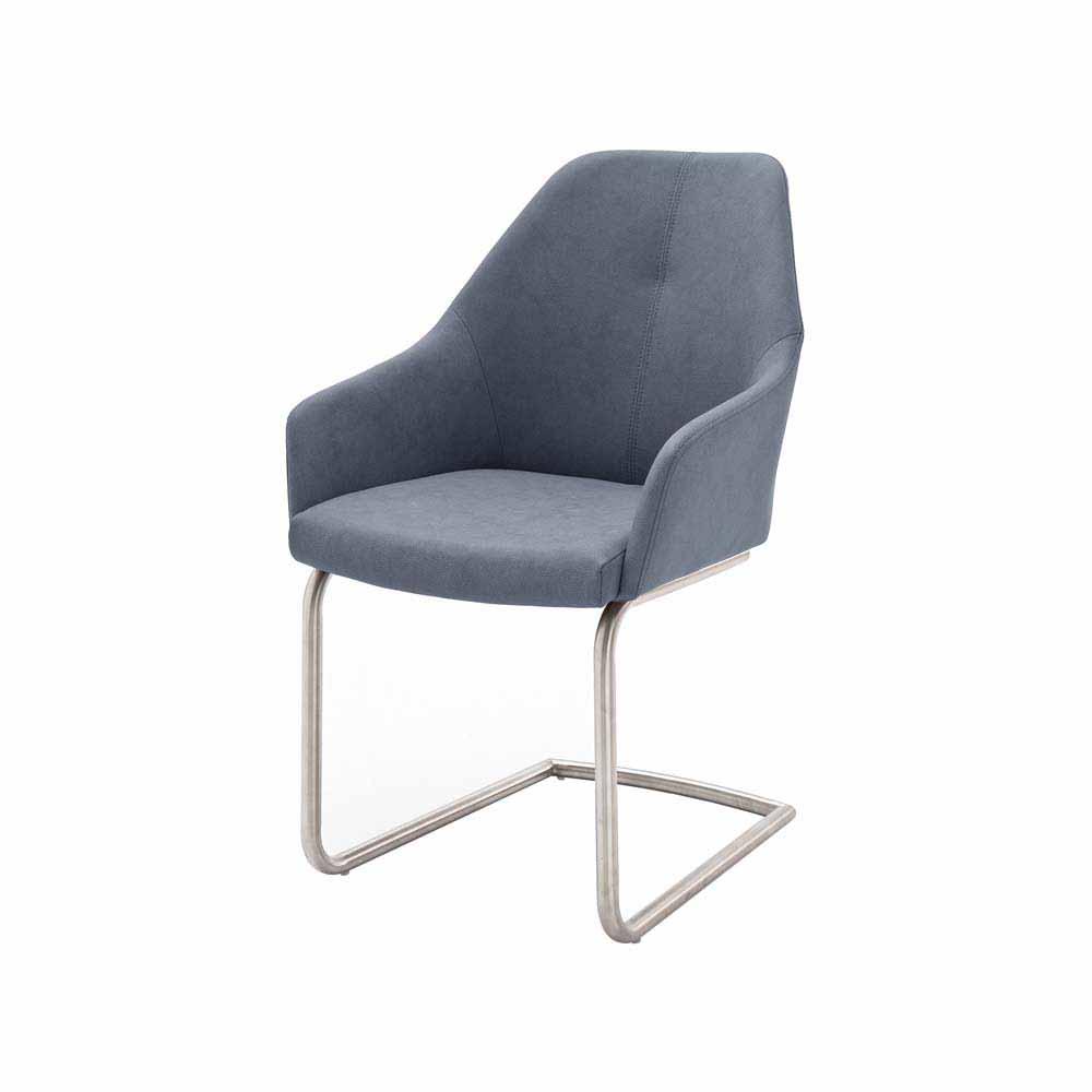 graublau metall Freischwinger online kaufen   Möbel