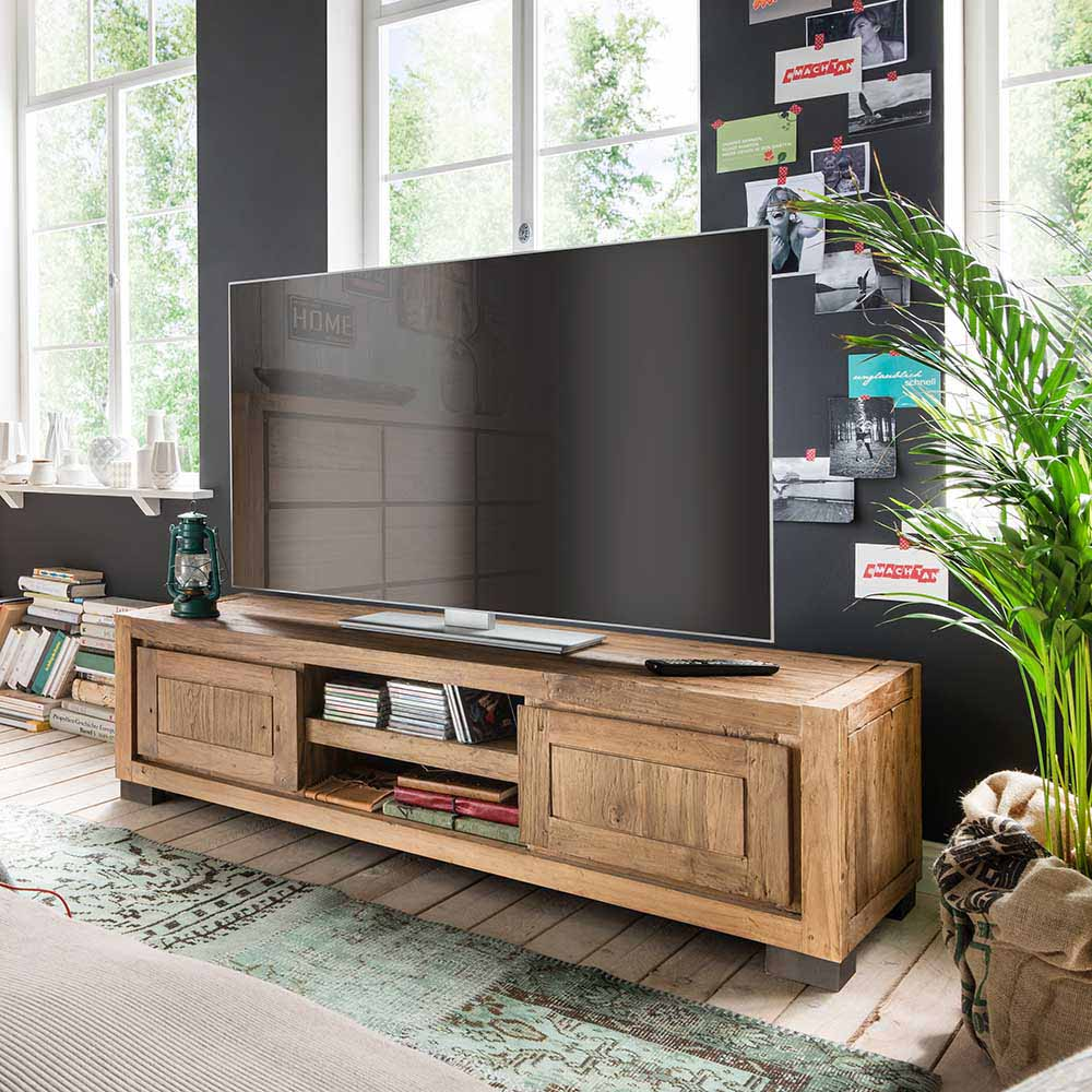 TV Board aus Teak Recyclingholz 150 cm