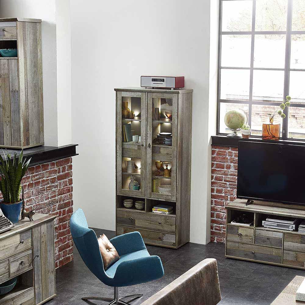 treibholz standvitrinen online kaufen m bel suchmaschine. Black Bedroom Furniture Sets. Home Design Ideas