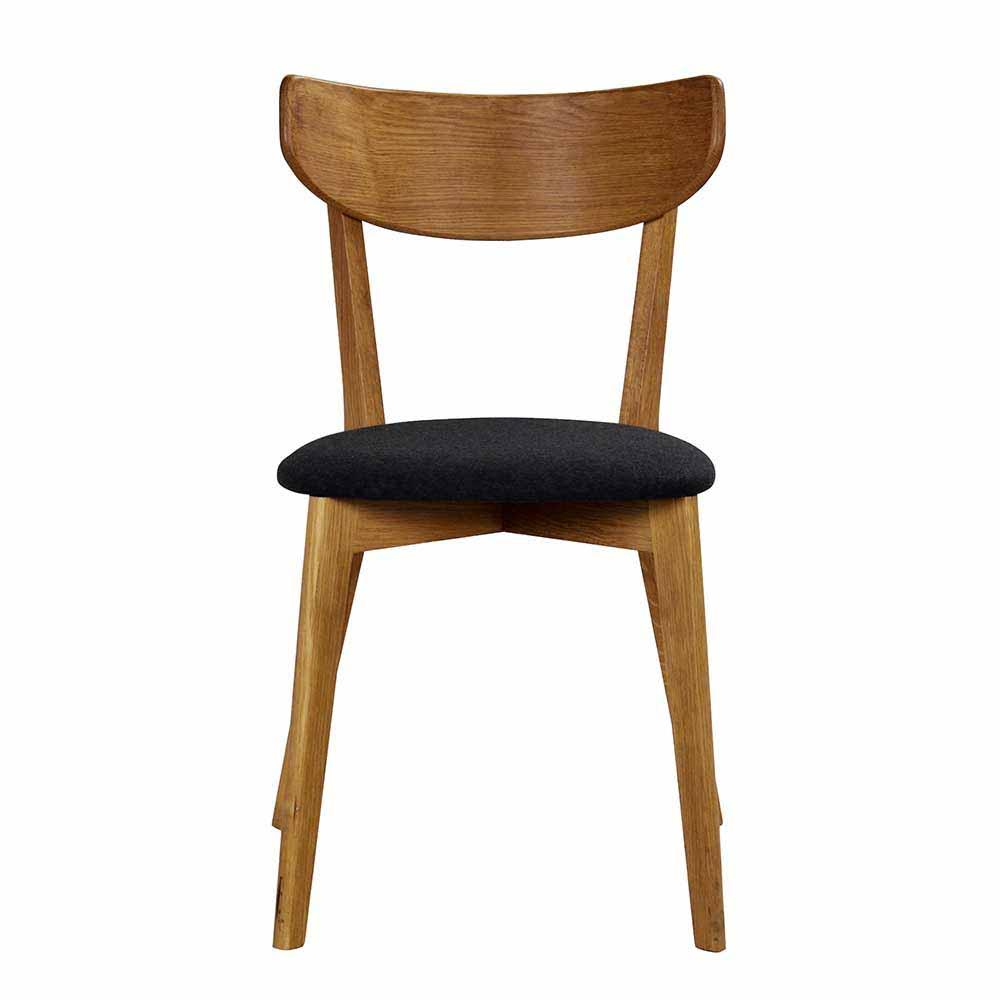Entzückend Esszimmerstühle Holz Gepolstert Galerie Von Esszimmerstuhl Aus Eiche Massivholz Lackiert (2er Set)