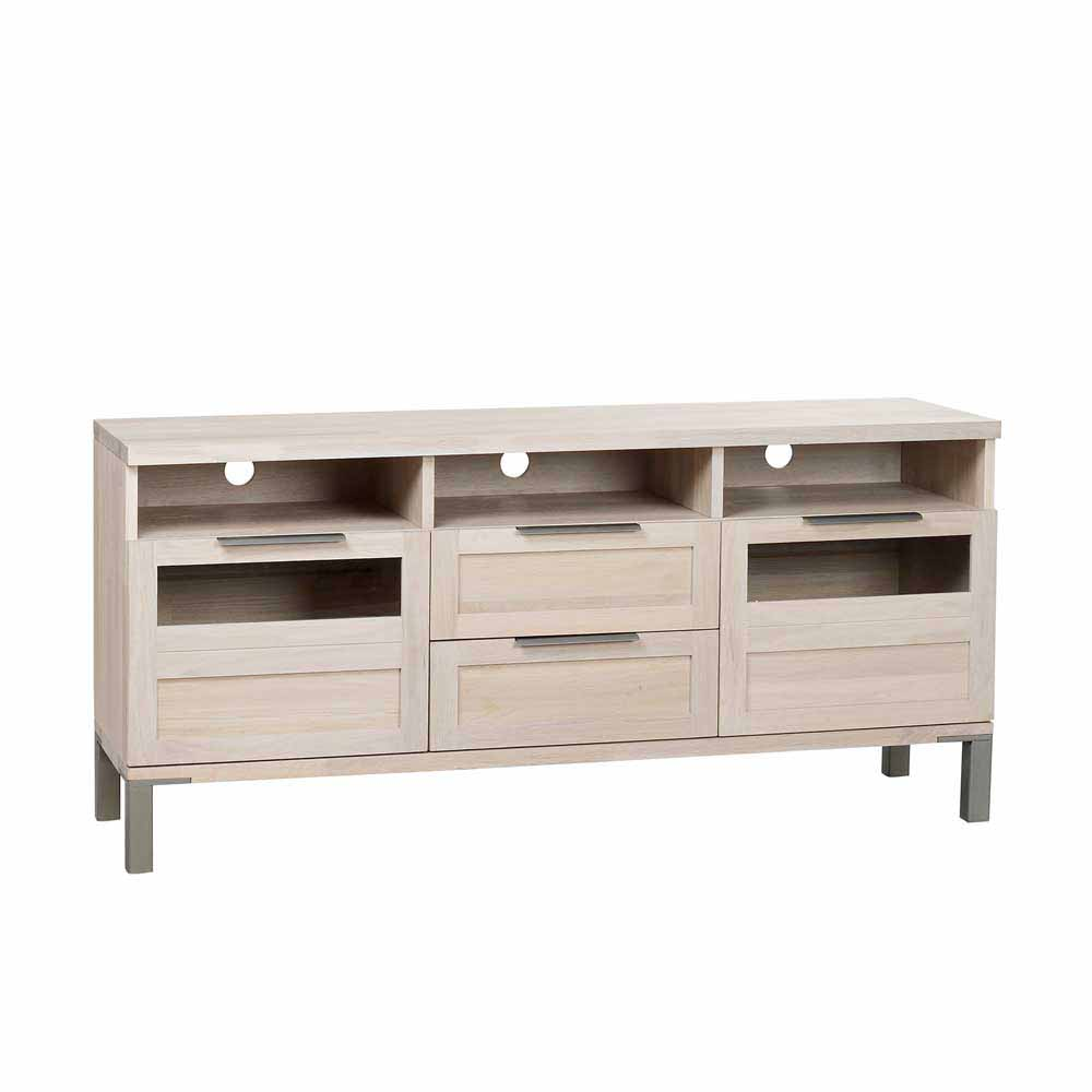 TV Board aus Eiche Massivholz White Wash