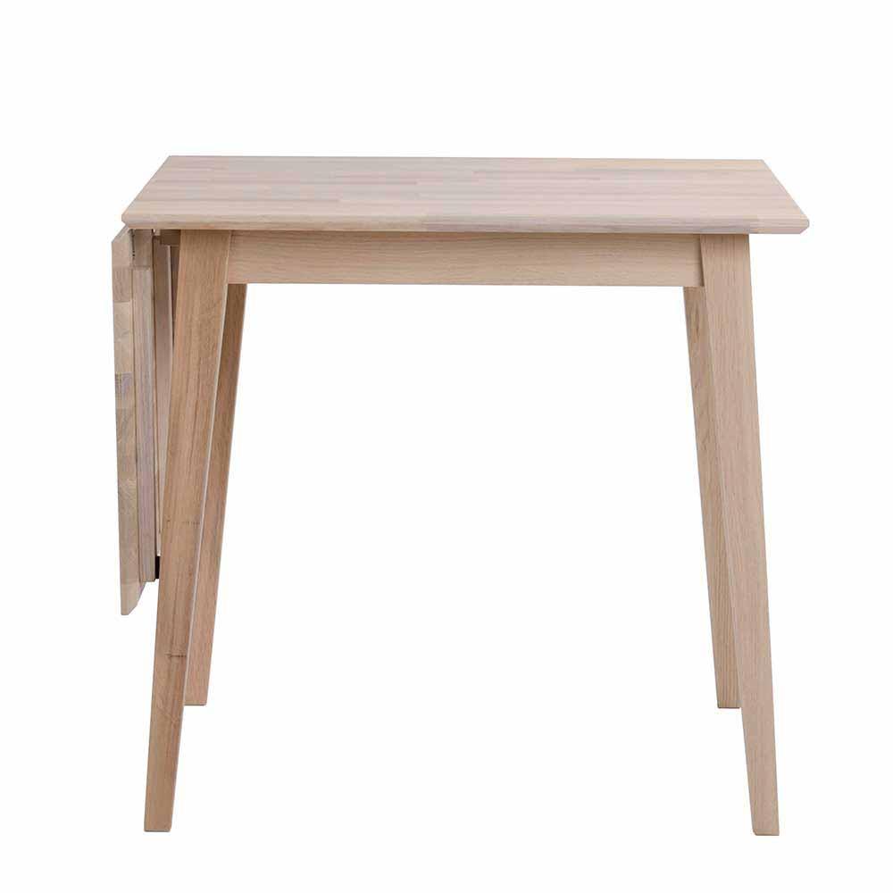 Massivholztisch aus Eiche Bianco geölt verlängerbar