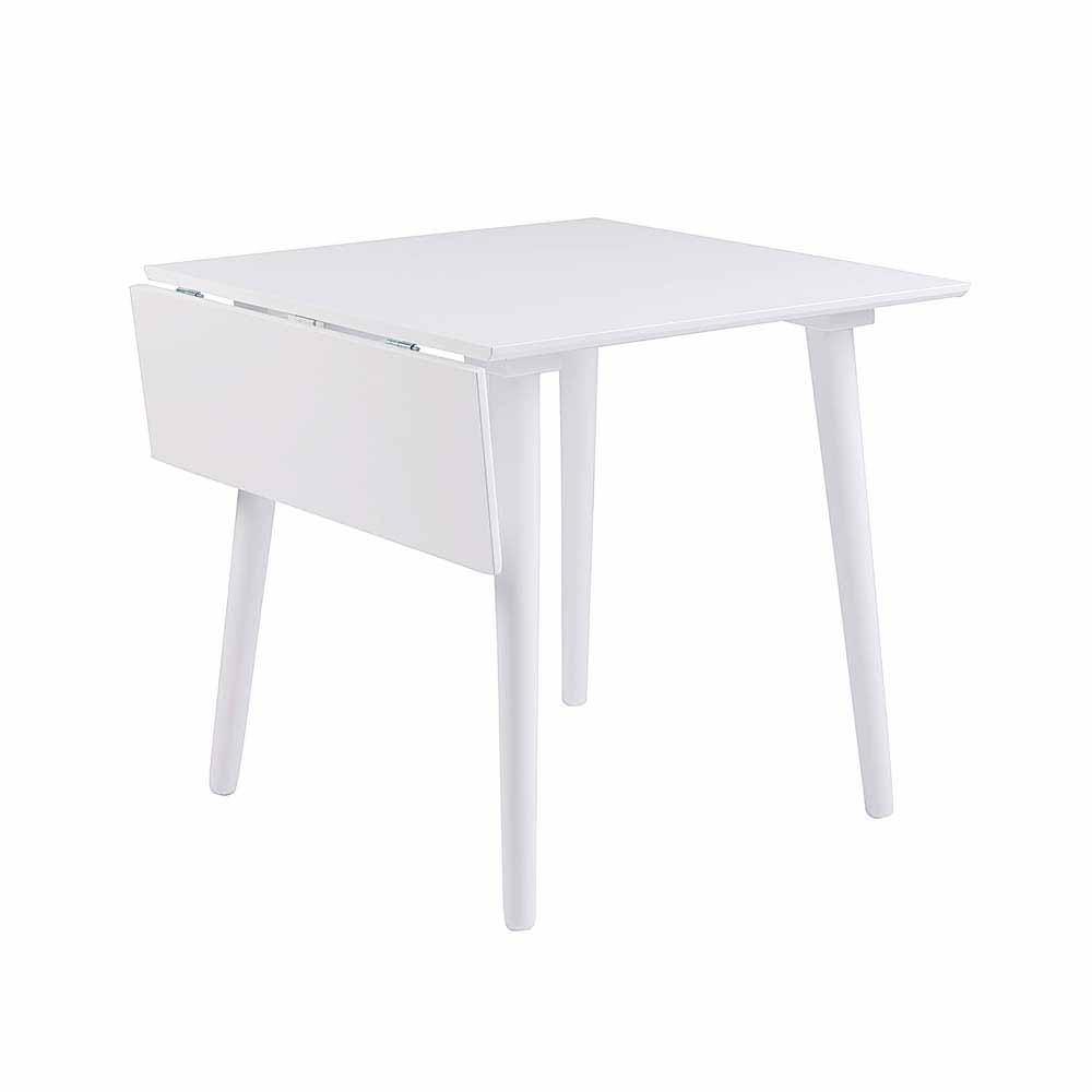 Küchentisch in Weiß Holz massiv verlängerbar | Küche und Esszimmer > Esstische und Küchentische > Küchentische | Weiß | Massivholz | TopDesign