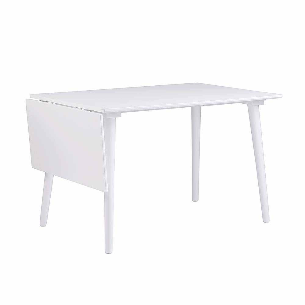 Esszimmertisch in Weiß Tischplatte hochklappbar