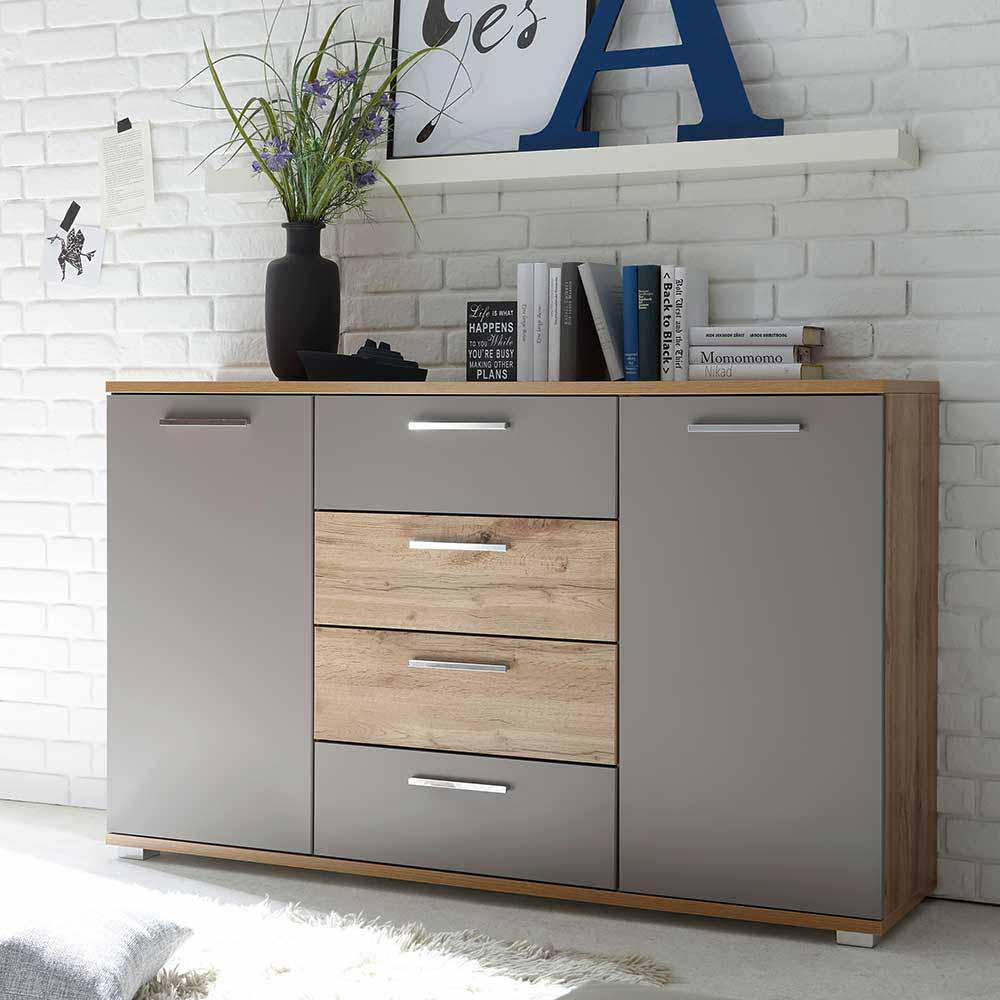 sideboard grau holz perfect sideboard massiv lackiert grau naturfarben schwarz wei with. Black Bedroom Furniture Sets. Home Design Ideas