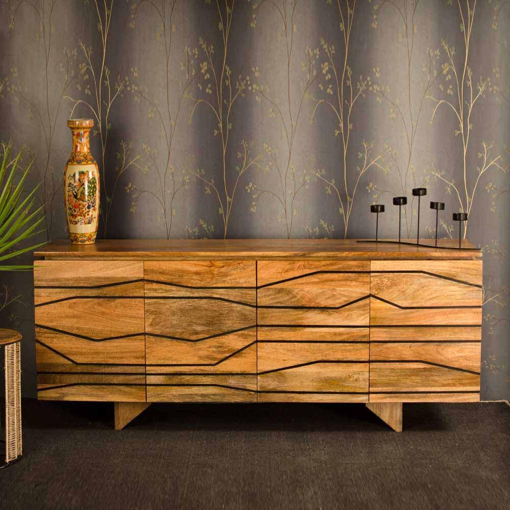 Esszimmer Sideboard aus Mangobaum Massivholz modern