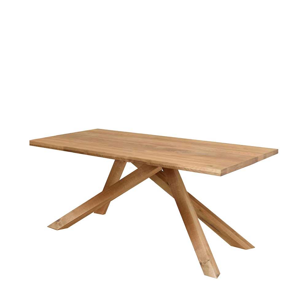 Esszimmertisch aus Wildeiche massiv modern