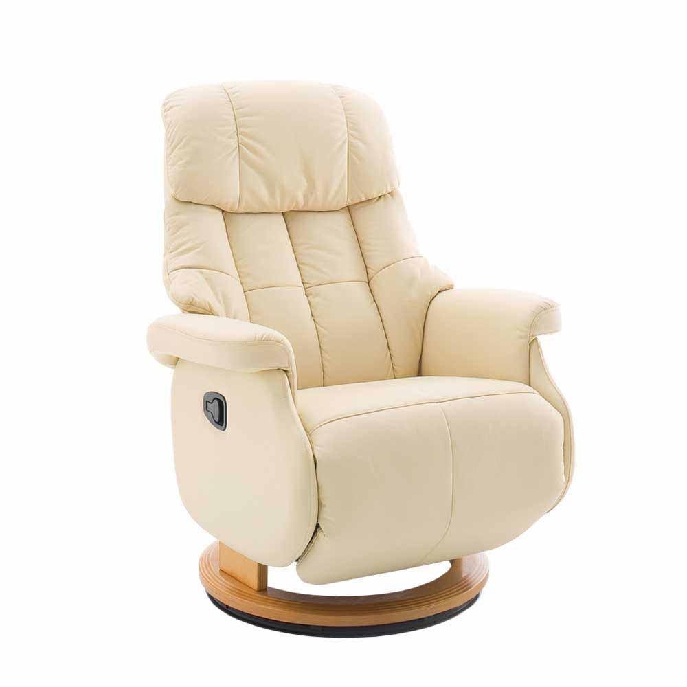 Relaxsessel in Creme Weiß mechanisch verstellbar
