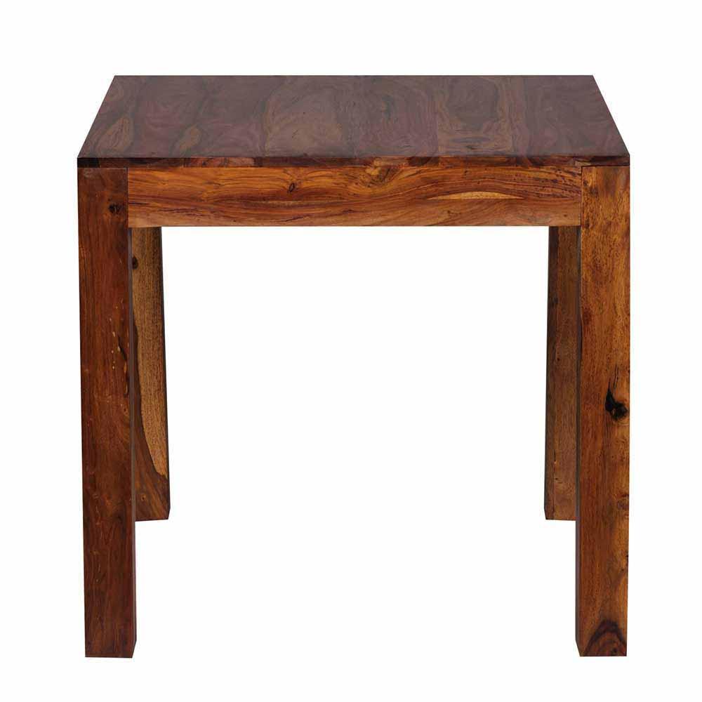 Massivholztisch aus Sheesham lackiert Landhaus