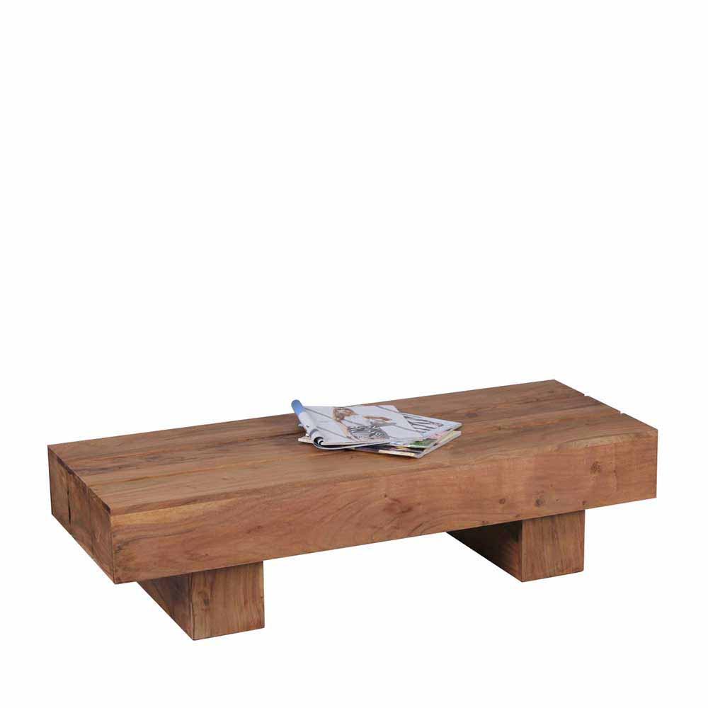Couchtisch aus Akazie Massivholz 30 cm hoch