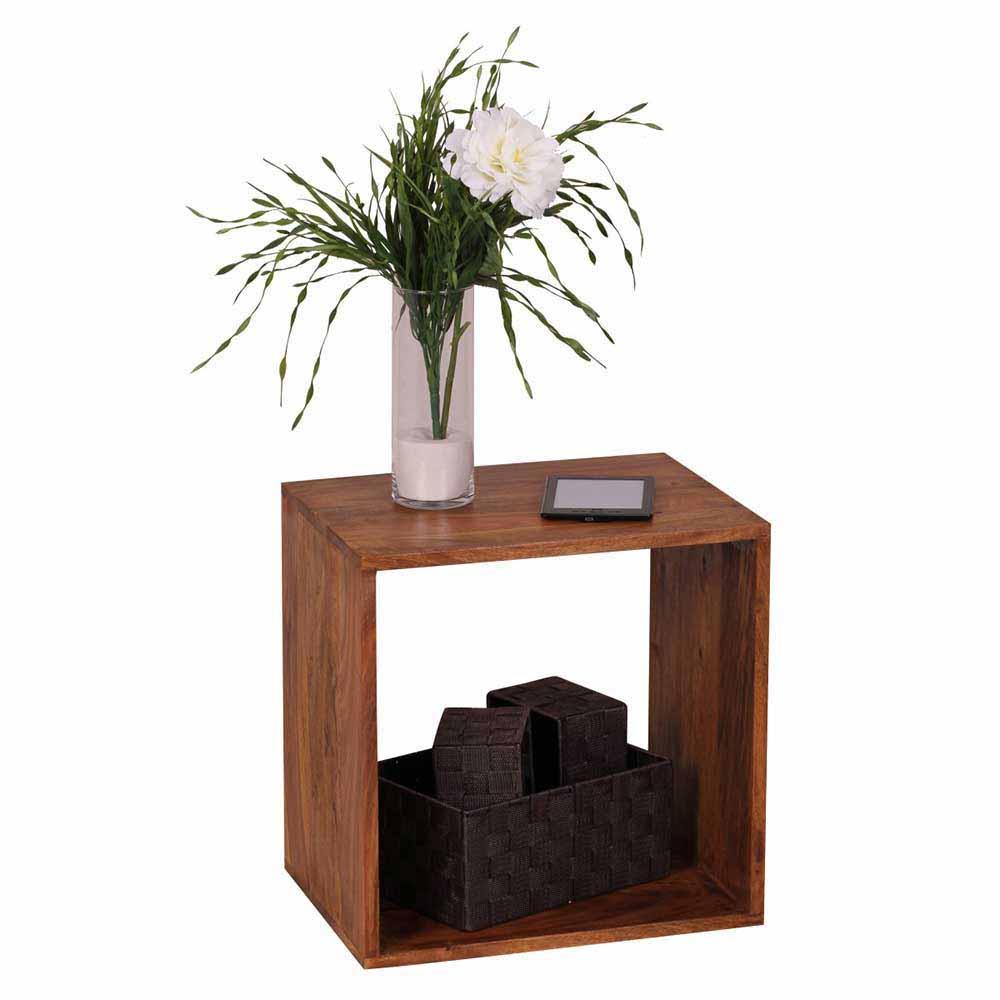Massivholz Regalwürfel aus Sheesham lackiert Landhaus | Wohnzimmer > Regale > Regalwürfel | Holz | Massivholz | Möbel4Life