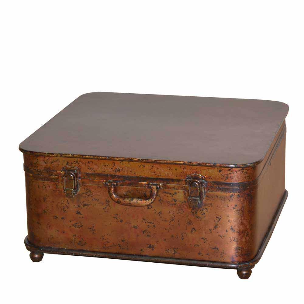 Truhencouchtisch in Braun Metall | Wohnzimmer > Tische > Truhentische | Möbel4Life