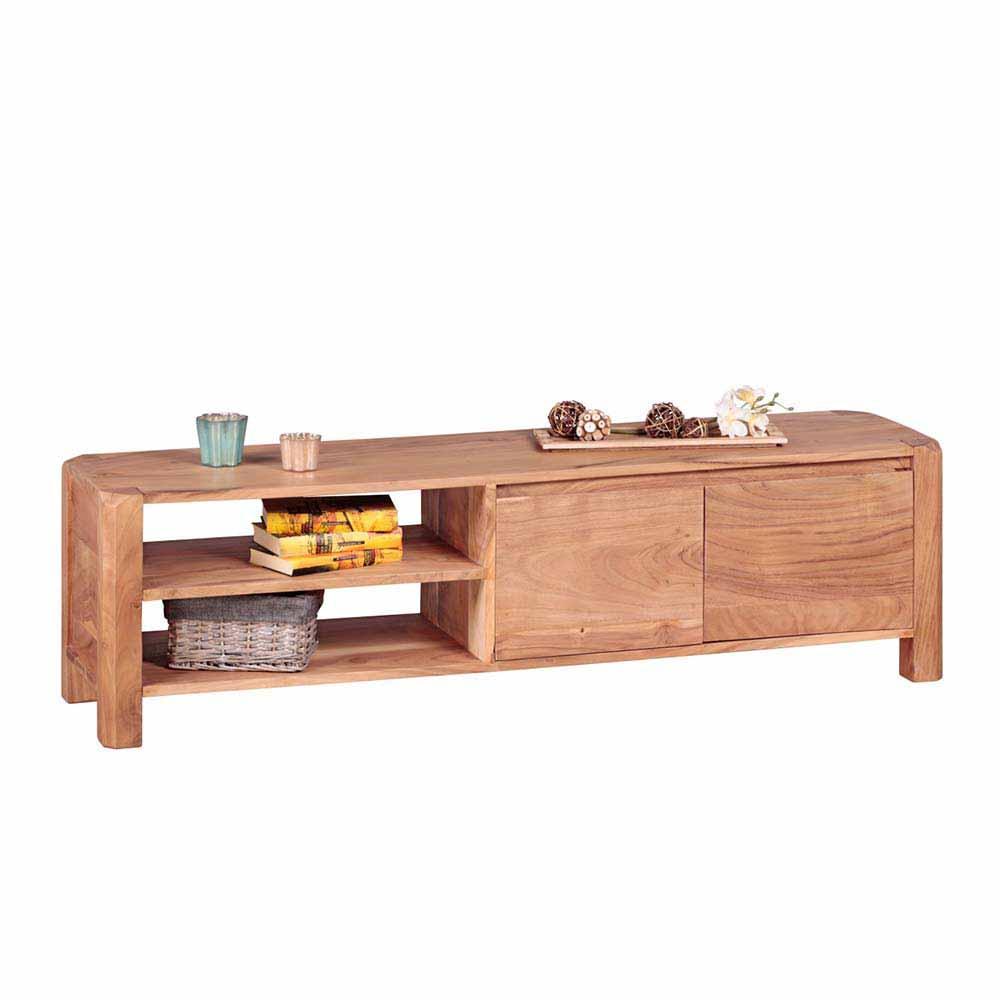 TV Tisch aus Akazie Massivholz 140 cm breit