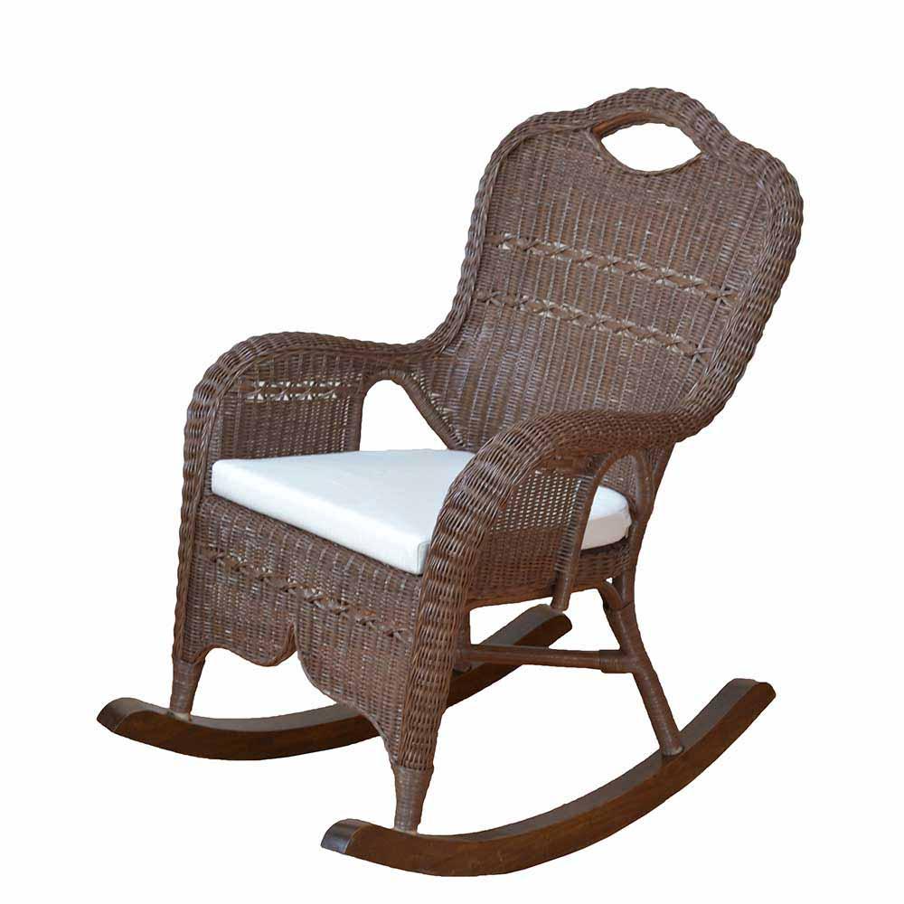 Schaukelsessel in Braun Rattan   Wohnzimmer > Sessel > Schaukelsessel   Braun   Geflecht   Möbel4Life