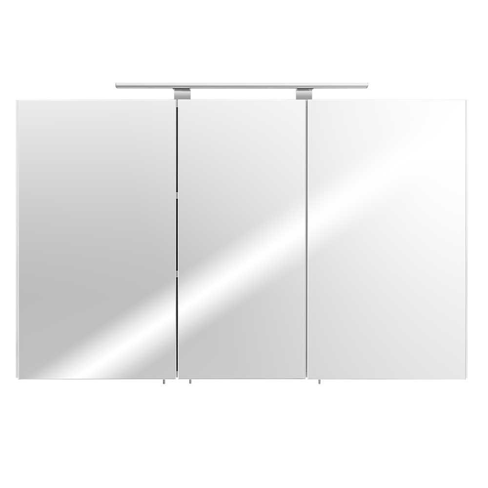 Bad Spiegelschrank in Weiß 110 cm | Bad > Spiegel fürs Bad | Möbel4Life