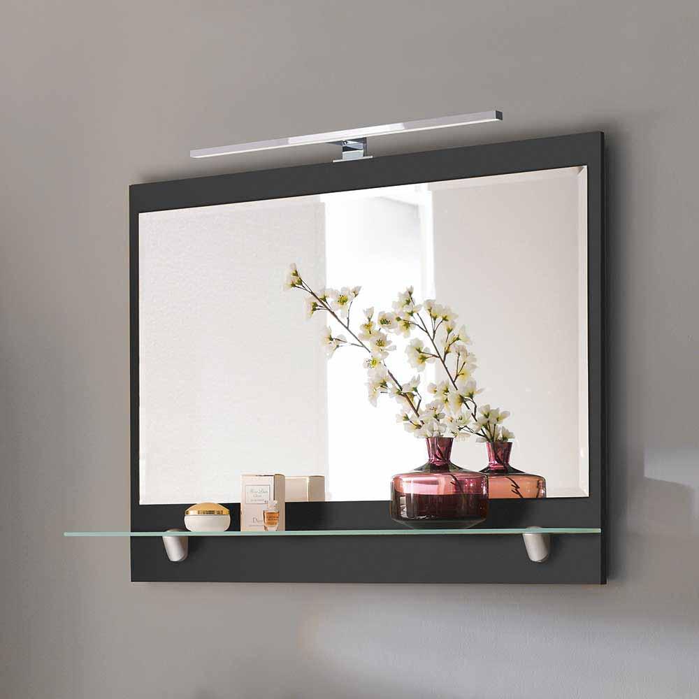 Badspiegel mit Glasablage LED Beleuchtung   Bad > Spiegel fürs Bad   Möbel4Life