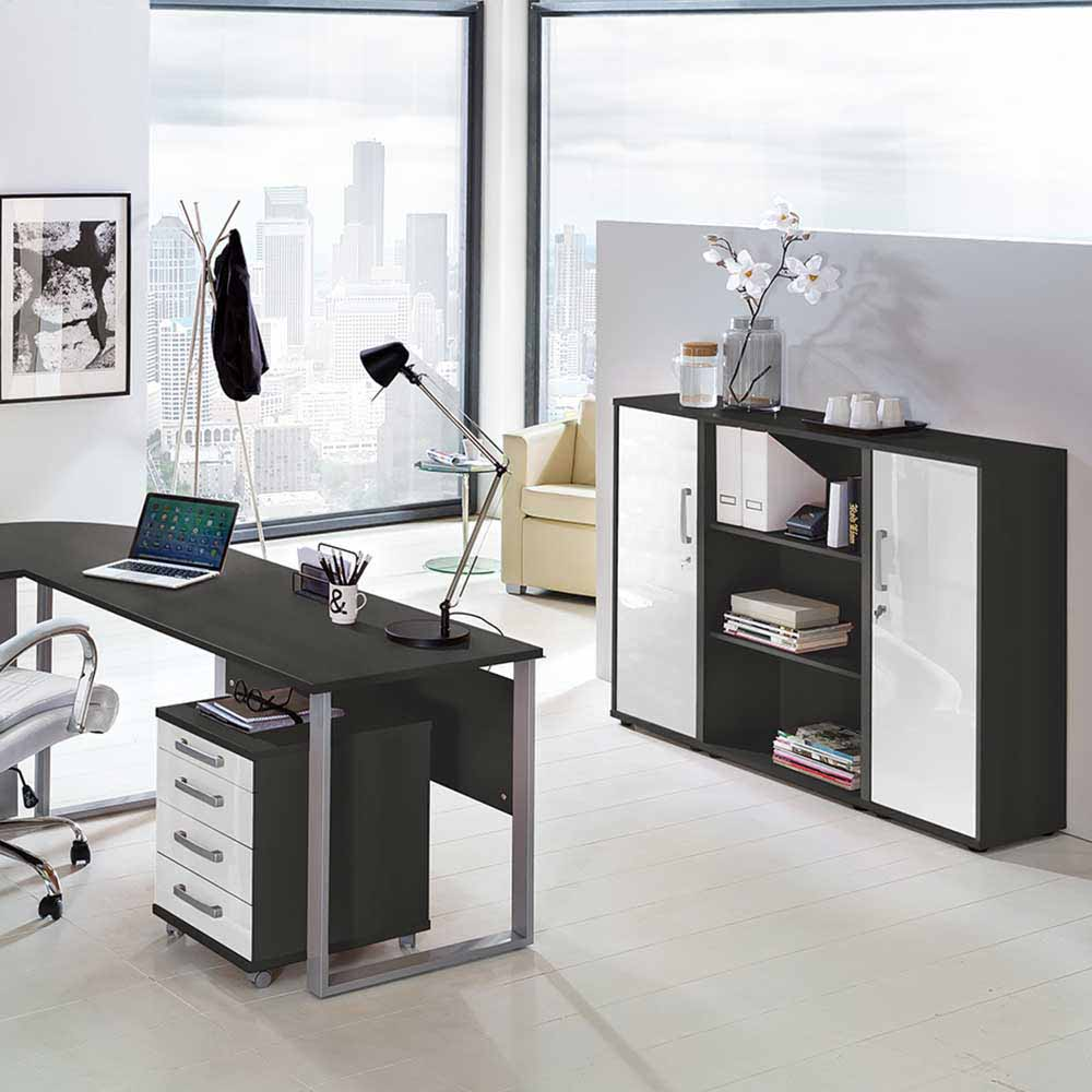 aktenschrank in anthrazit wei abschlie bar shop. Black Bedroom Furniture Sets. Home Design Ideas