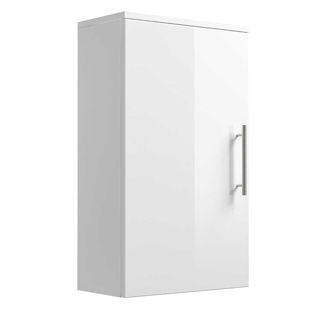 Bad Hängeschrank in Hochglanz Weiß 40 cm breit   Bad > Badmöbel > Hängeschränke fürs Bad   Weiß   Holzwerkstoff   Möbel4Life