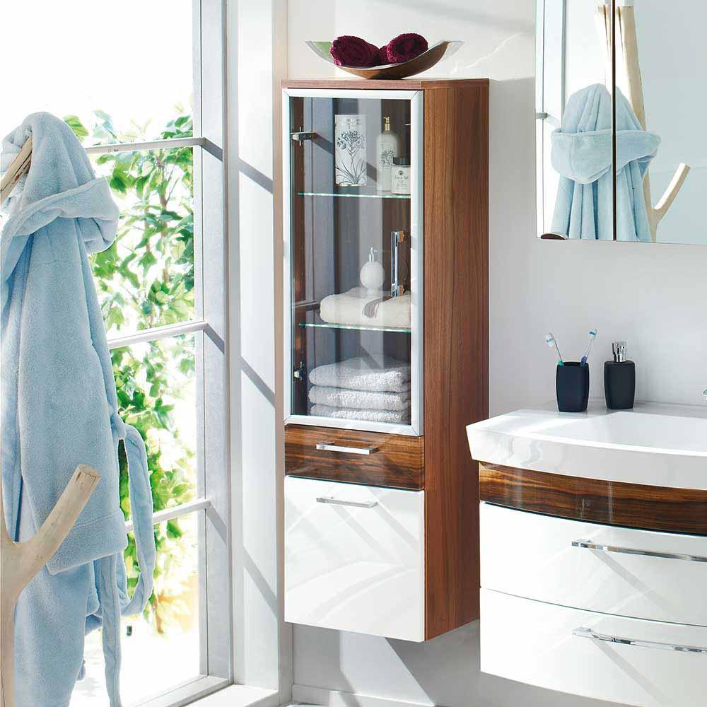 hochglanz-walnuss Badezimmerschränke online kaufen | Möbel ...