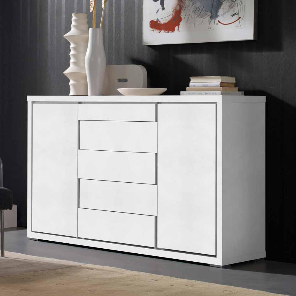 Design Sideboard in Weiß Griffloses Design