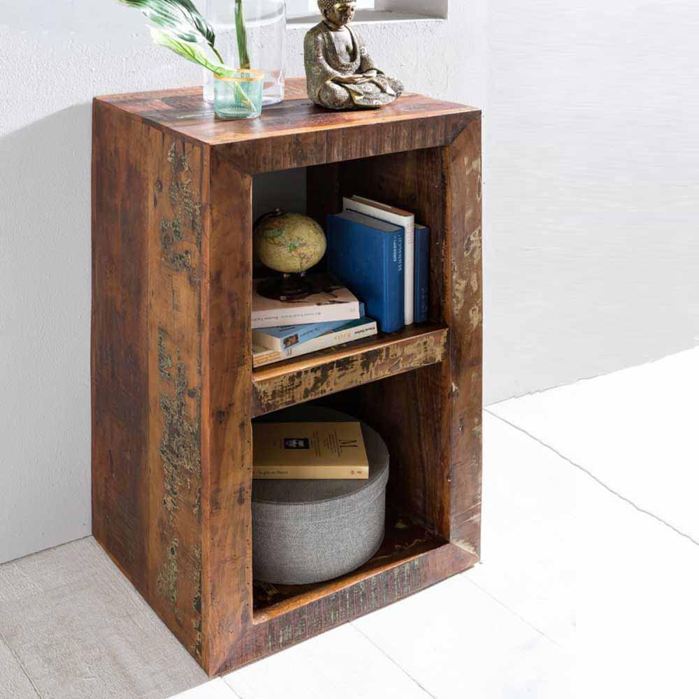 Kleines Regal im Shabby Chic Design Mangobaum Recyclingholz