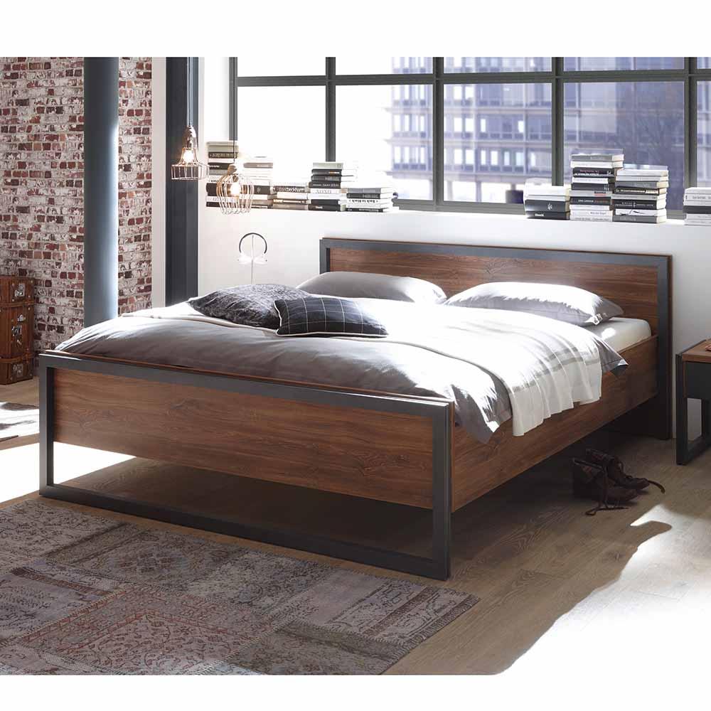 Komfortbett im Loft Design Eiche dunkel | Schlafzimmer > Betten > Komfortbetten | Brandolf