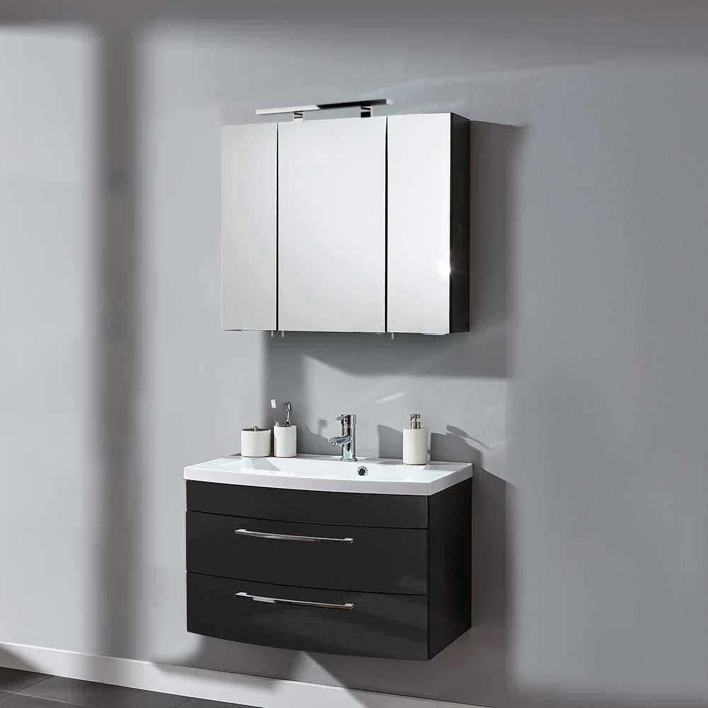 Möbel4Life Badkombi in Anthrazit Hochglanz modern (2-teilig) - broschei