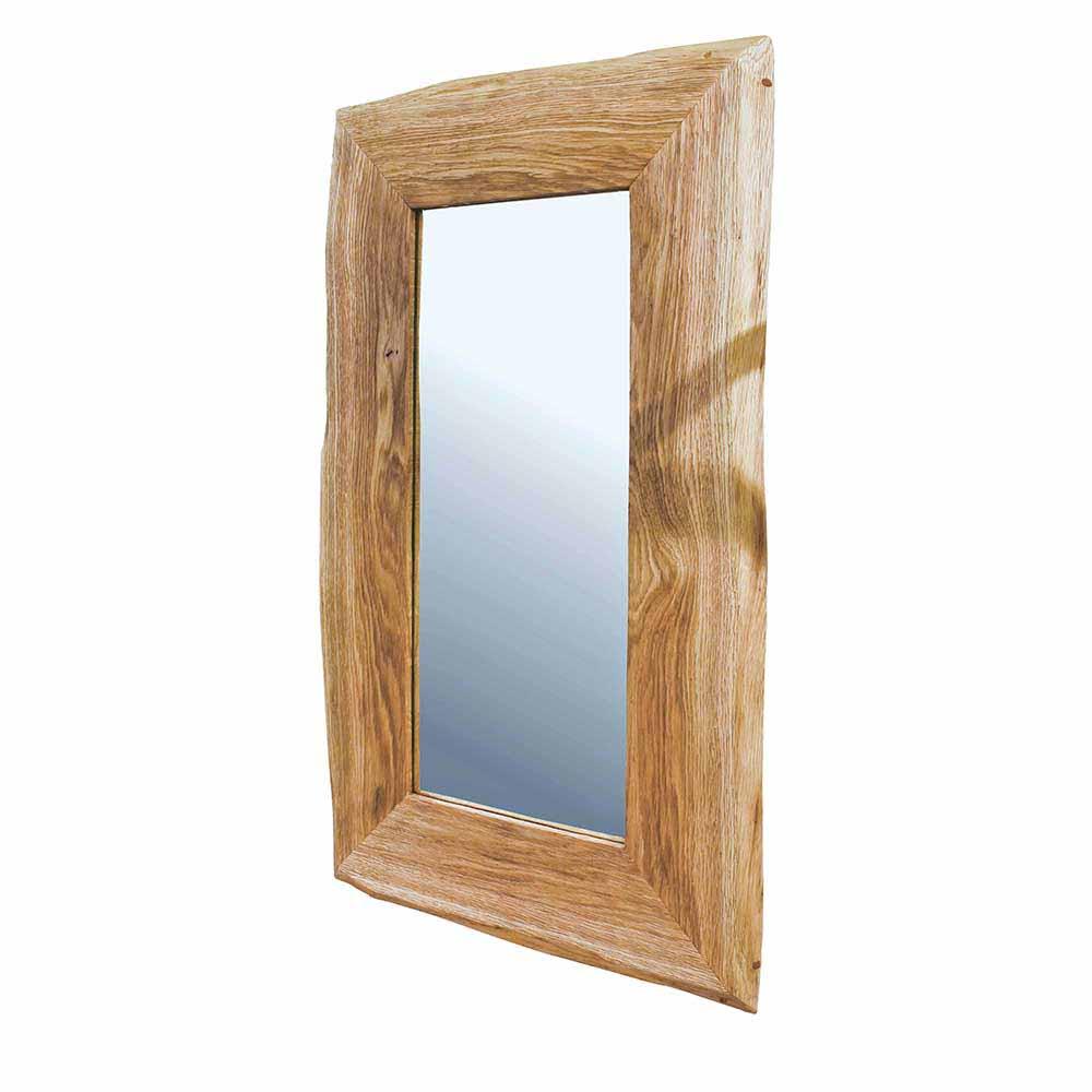 Garderobenspiegel mit Baumkante Wildeiche Massivholz | Flur & Diele > Spiegel > Garderobenspiegel | Holz | Glas | Massivio