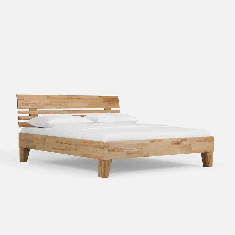 Doppelbett aus Kernbuche Massivholz geölt | Schlafzimmer > Betten > Doppelbetten | Kernbuche - Massivholz - Massiv - Holz - Geölt | BestLivingHome