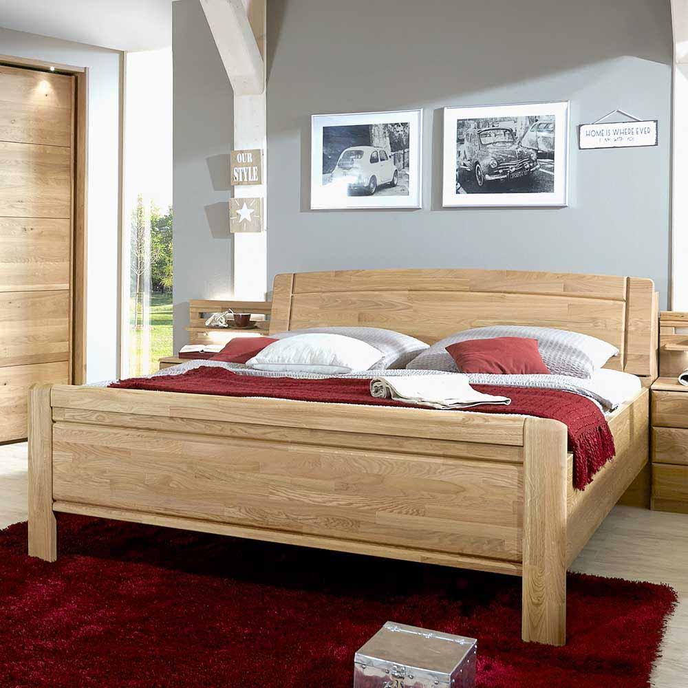 Komfortbett aus Eiche teilmassiv Bettkasten | Schlafzimmer > Betten > Komfortbetten | Franco Möbel