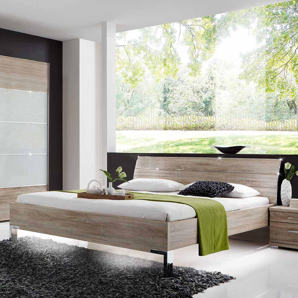Komfortbett in Eiche Sägerau modern