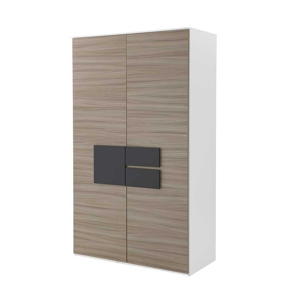 Kleiderschrank in Holz Anthrazit 2 Türen