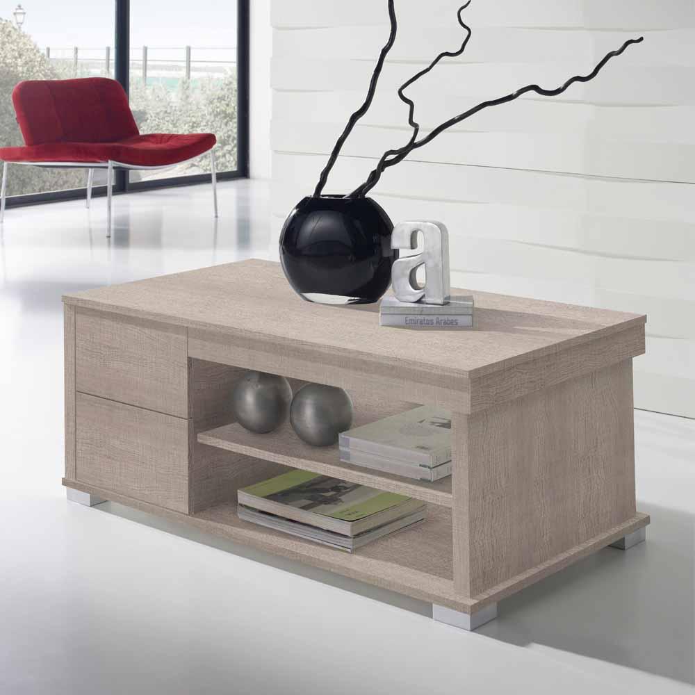 Wohnzimmer Couchtisch in Eiche Sonoma Tischplatte hochklappbar