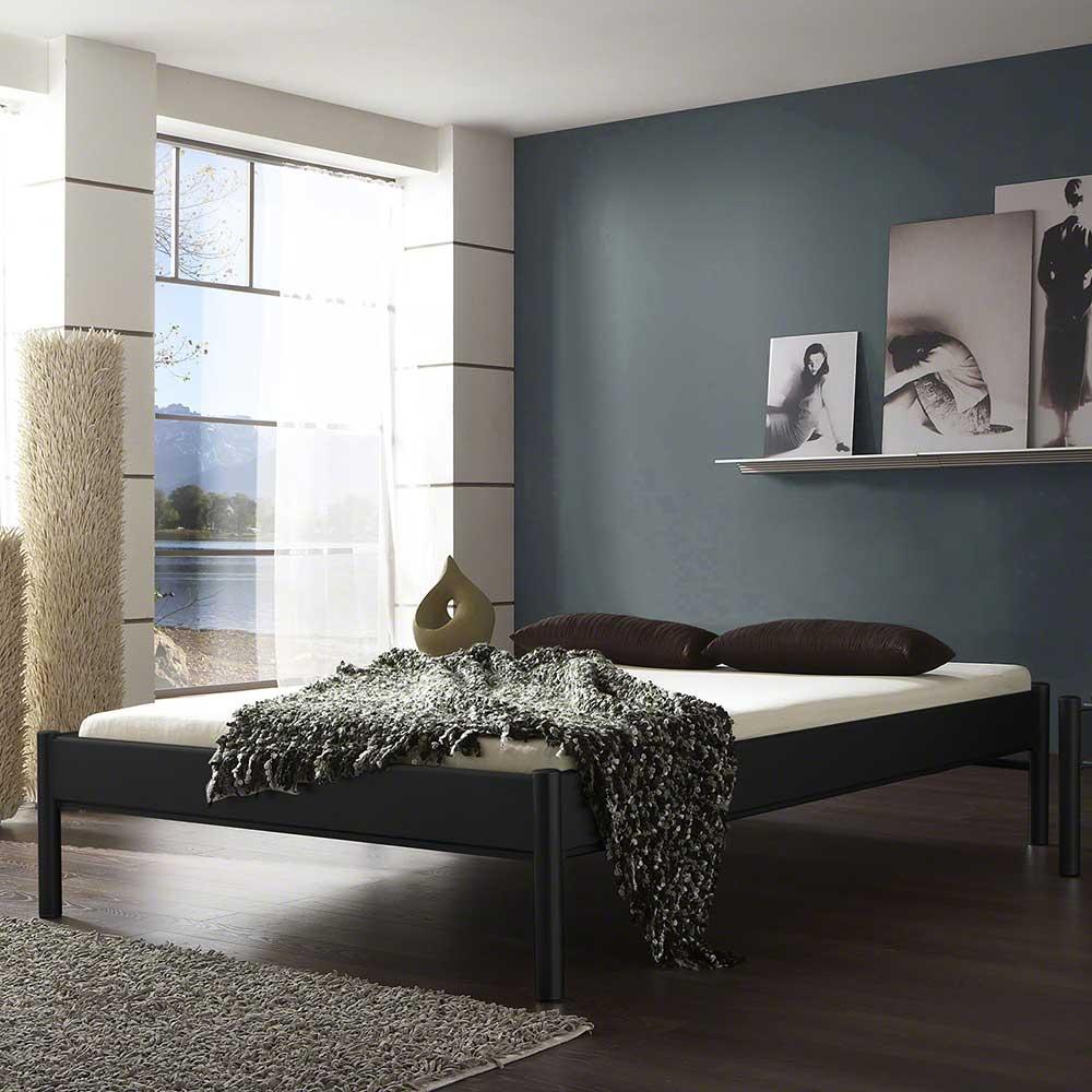 Jugendbett in Schwarz Eisen ohne Kopfteil | Kinderzimmer > Jugendzimmer | BestLivingHome