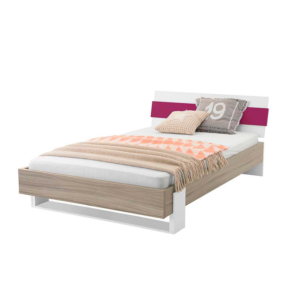 Jugendzimmer Futonbett in Holz Pink modern | Kinderzimmer > Jugendzimmer | Spirinha