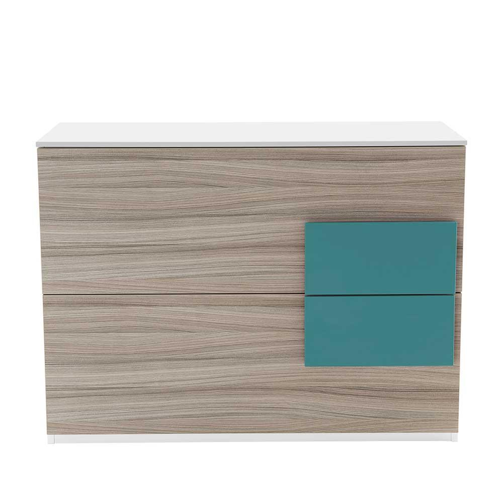 Design Kommode für Jugendzimmer Holz Petrol | Kinderzimmer > Jugendzimmer > Jugendschränke | Weiß | Holzwerkstoff | Spirinha