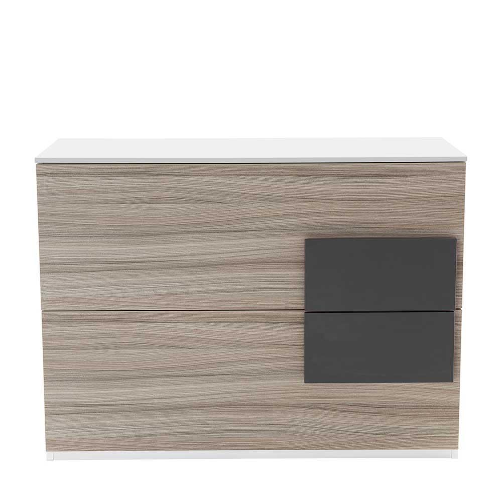 Kommode für Jugendzimmer Holz Anthrazit | Kinderzimmer > Jugendzimmer > Jugendschränke | Weiß | Holzwerkstoff | Spirinha