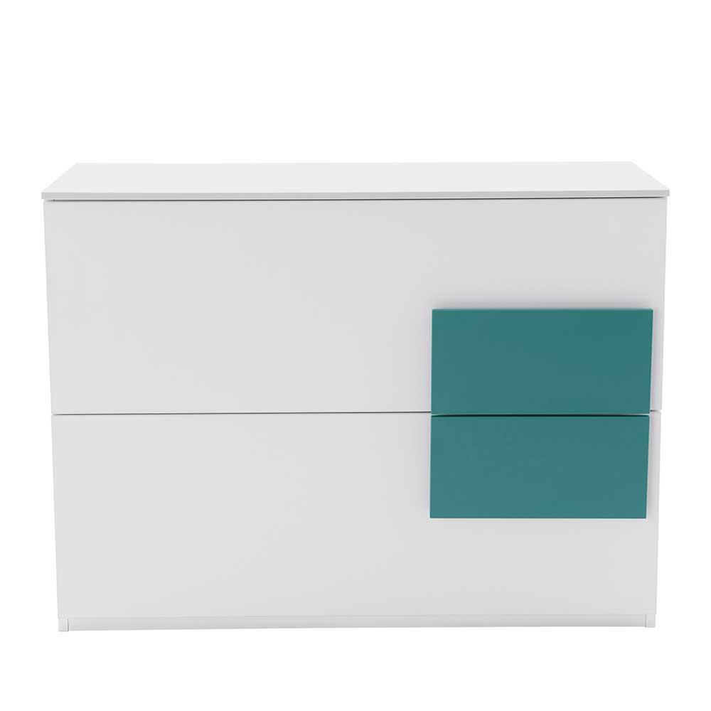 Großartig Kleines Sideboard Sammlung Von In Weiß Petrol 100 Cm
