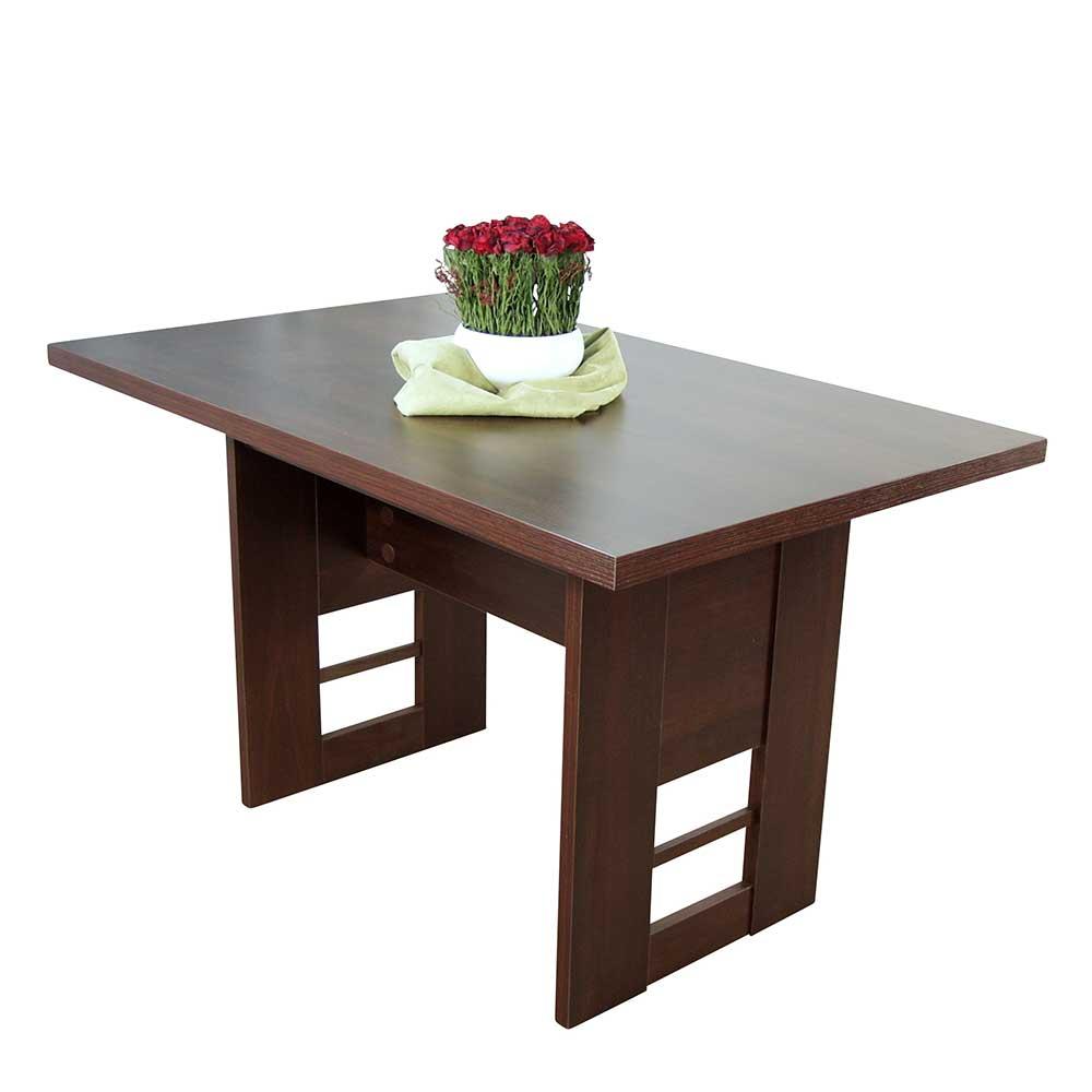 Wangen Esstisch in Nussbaumfarben 130 cm