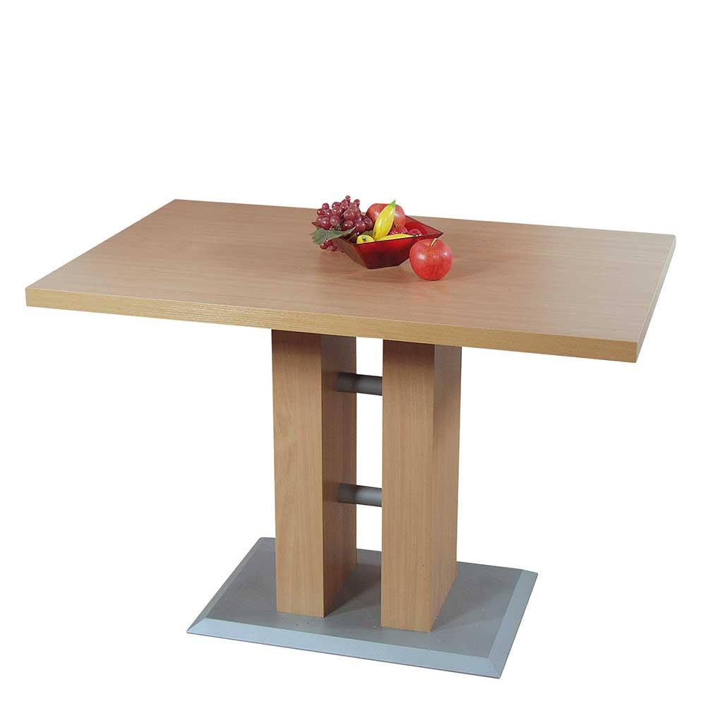 Esstisch mit Säule 110 cm