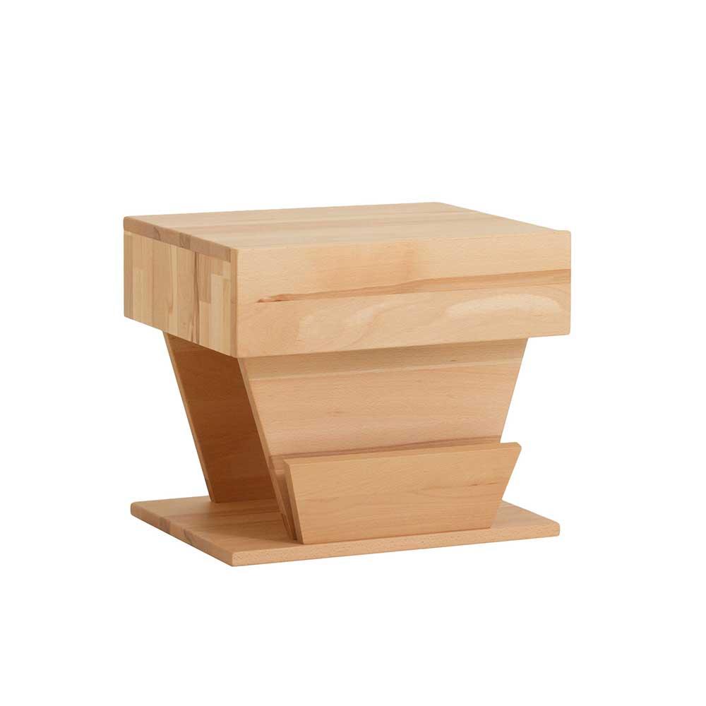 Design Nachttisch aus Kernbuche Massivholz modern