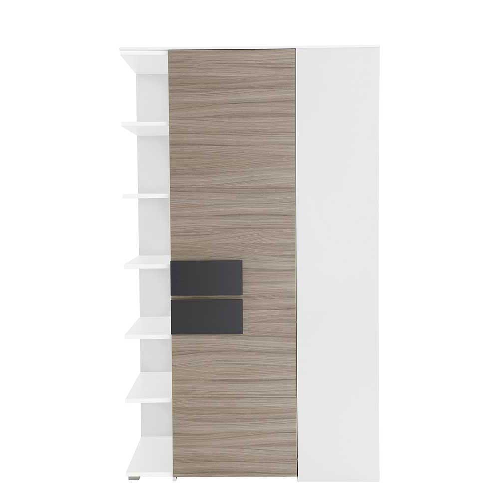 Kleiderschrank für Ecke Holz Anthrazit