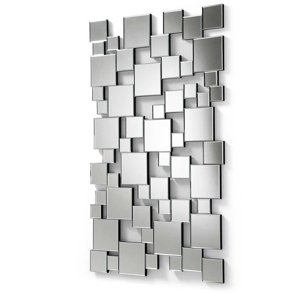 Design Wandspiegel ohne Rahmen 140 cm hoch