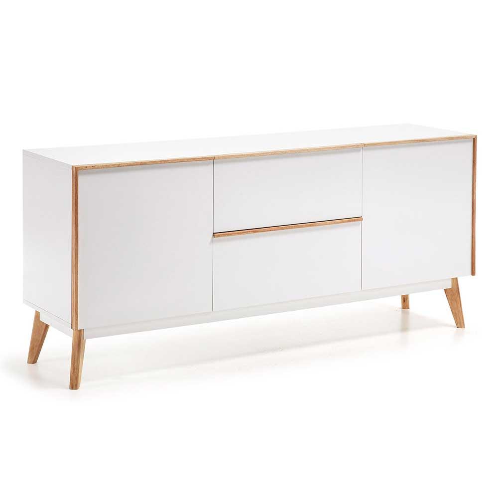 Schlafzimmer Sideboard in Eiche Weiß 160 cm