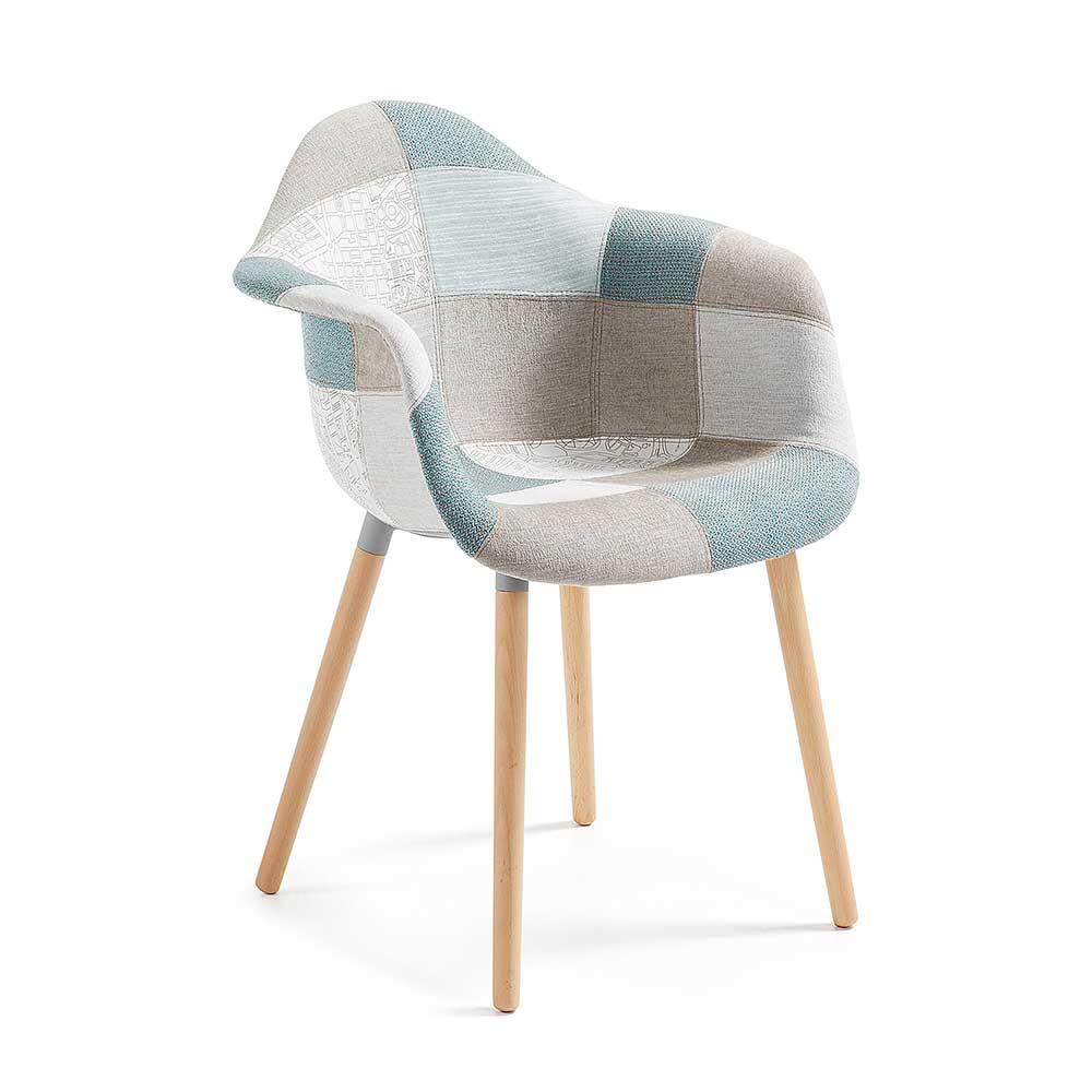 4Home Design Stuhl in Bunt gemustert Armlehnen (2er Set) jetztbilligerkaufen